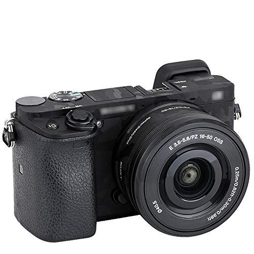 Pegatina protectora para cámara Sony a6100, a6300, a6400 + kits de lentes de 16-50 mm, pegatinas para cámara réflex digital 3M antiarañazos, camuflaje sombra negra ⭐