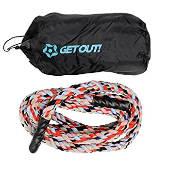 Get Out! Tug of War Rope 25ft  7.6m  – Tug O War Rope for Adult & Kids Outdoor Yard Games Training Exercise Rope