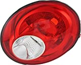 JP Auto Outer Tail Light Compatible With Volkswagen New Beetle 2006 2007 2008 2009 2010 Passenger Right Side Taillamp