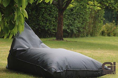 Grafinteriors Outdoor und Indoor Sitzsack XXL, Relaxsessel Chillout, abwaschbar, wasserfest, Markenware von GI Design (Dark Grey)
