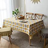 Rongxin Impresión de mezcla de algodón y acuario, mesa de centro para el hogar, mantel, diseño de ladrillo, mantel nórdico simple (color: 1, tamaño: 140 x 220 cm)