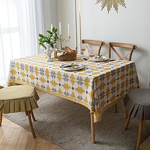 Rongxin Impresión de mezcla de algodón y acuario, mesa de centro para el hogar, mantel, diseño de ladrillo, mantel nórdico simple (color: 1, tamaño: 140 x 180 cm)