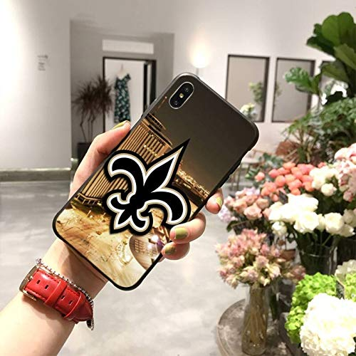 HUAI New Orleans Saints - Carcasa para iPhone 11 Pro XS MAX 8 7 6 6S Plus X 5S SE XR (color: A8, material: para iPhone5C)