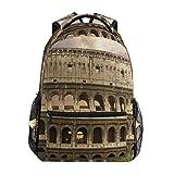 Mochila DISLONLY para Viajes Negocios Escuela Al Aire Libre Deporte Ocio Compras,Foro Coliseo Color Azul Roma Italia Parques Flavianos Coliseo Rojo Anfiteatro Romano Imperio Fiel