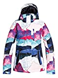 Roxy Jetty-Chaqueta para Nieve para Mujer, Bright White Annecy, XL