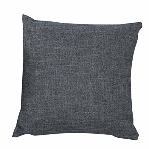 Freshzone Simple Fashion Throw Pillow Cover for Home Decor (Gray)
