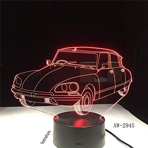 TIANXIAWUDI Acrylic sports car design 3D LED gift lights music touch remote control USB night light 7 color changing lamp 2945 color change children