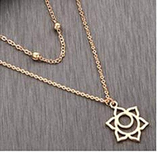 huangxuanchen co.,ltd Necklace Necklace Statement Muti Layer Pendant Necklace for Women Geometric Chain Long Necklaces DNA Animal Vintage Choker Necklace Gift