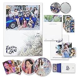 TWICE 10th Mini Album - Taste of Love [ Taste Ver. ] Photobook + CD-R + Booklet + Lenticular + Tasting Card + Coaster + Photocard + Pre-Order Photocard Set + OFFICIAL POSTER