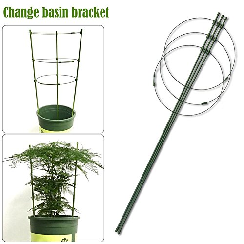 Gherkin Tower Plant Cultivation Tower Vine Climbing Shelf with Supports for Tomato Trellis Obelisk Bronze Height 45 cm Diameter 14/16/18 cm Heavy Duty Powder Coated Steel
