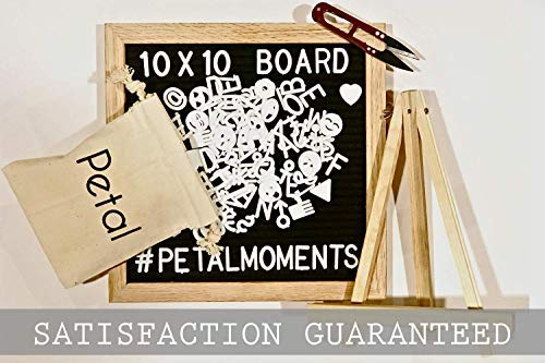 Changeable Felt Letter Board Set: 300 Characters, Pouch & Stand in Gift Box | Make Your Own Message: Quote, Pregnancy, Wedding, Back to School, Milestones, Birthday