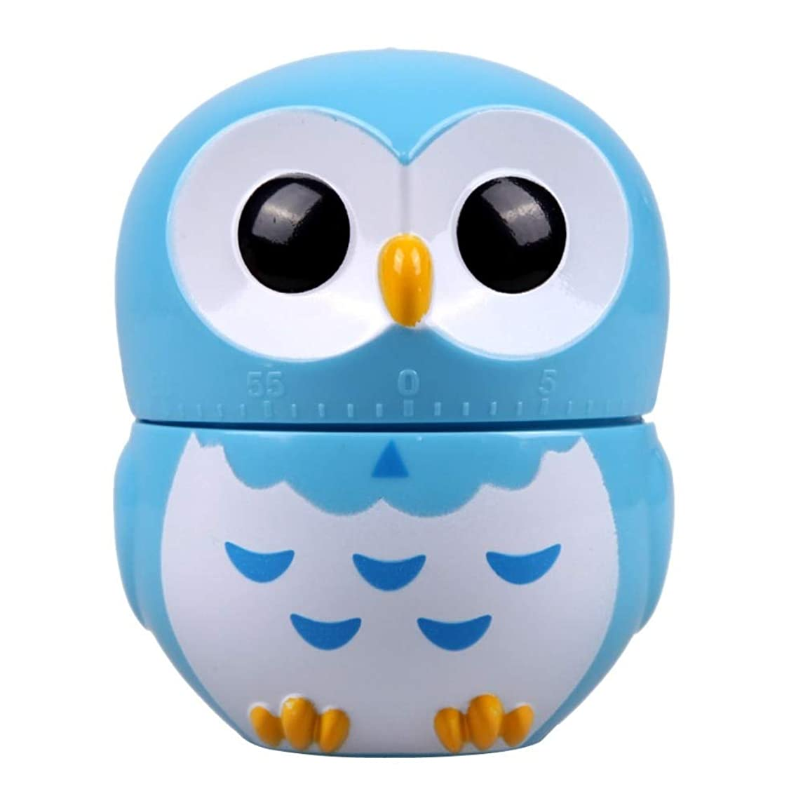 Procyon - Owl Cartoon Kitchen Timers 60 Minutes Cooking Mechanical Home Decor Blue Dial Timers