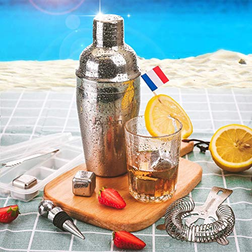 Cocktail Shaker Set, Baban 22Teilige Cocktail Shaker + Whisky Steine, Komplettes Kit, Sie müssen keine zusätzlichen Whisky Steine kaufen,Ideal für Familien, Feste, Bars  - 4