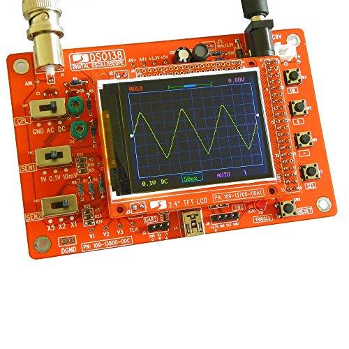 Desconocido DSO138 - Osciloscopio Digital para Manualidades, Piezas para Hacer osciloscopios electrónicos, Herramienta de diagnóstico, Set de Aprendizaje osciloscopio, 1 msps