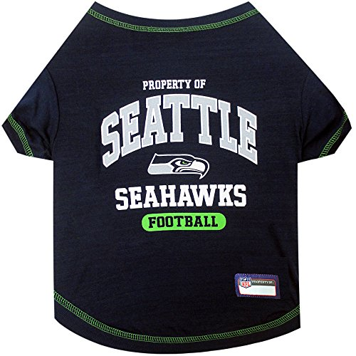 PET SHIRT for Dogs & Cats - NFL SEATTLE SEAHAWKS Dog T-Shirt, Medium. - Cutest Pet Tee Shirt for the real sporty pup