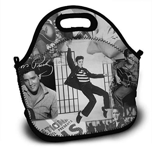 MaoMaoYongHui E-lvis Pr-esley Personalisierte leichte Lunch-Tasche Handtasche für Kinder Reißverschluss für die Schultasche