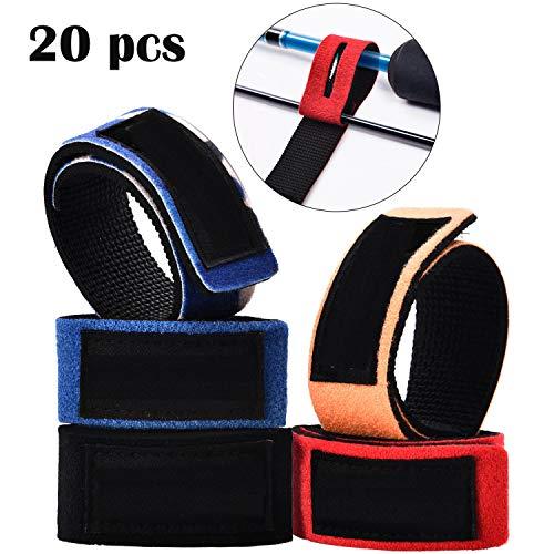 20 Stück Angelruten Gürtel Krawatten Elastisch Stange Gurt Casting Spinning Stange Gurt Halter für A Gejoy