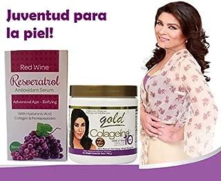 Colageina 10 Gold Powder 1 Resveratrol Hyaluronic Facial (colageina 10 Capsules )