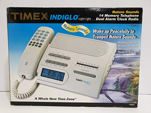Timex Indiglo Nature Sounds Dual Alarm Clock Radio #T498G