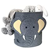 Aufbewahrungskorb Kinder Aufbewahrungsbox Wäschekorb Aufbewahrungskiste spielzeugkisten für kinderzimmer Organizer (Elefant)