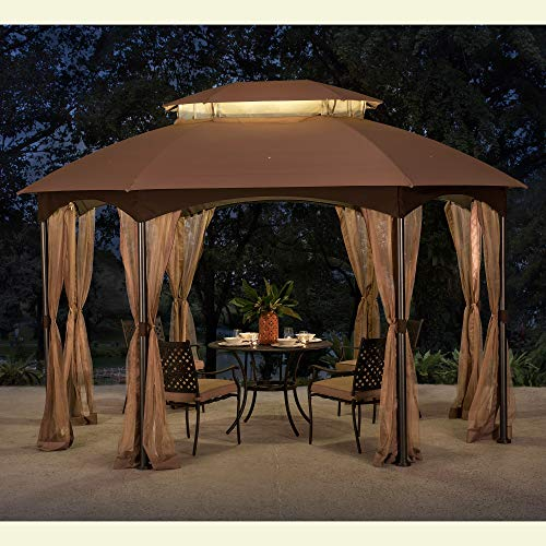 Original Replacement Canopy for Manhattan Oval Gazebo (10X12 Ft) L-GZ1138PST Sold at BigLots, Khaki - Sunjoy 110109024