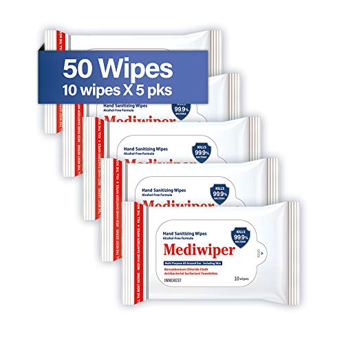 Refreshing Wet Wipes Alcohol-Free Wipes Travel Size to Sanitize/Clean/Deodorize Bulk Wipes (50 Wipes (105pks, Prime))