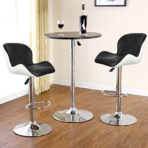XQAQX kruk 2-delig / set leer draaibare barkruk stoelen in hoogte verstelbaar pneumatische Pub stoel White Stool