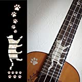 Fretboard Markers Inlay Stickers Decals for Concert Ukuleles - Cat Foot Prints/Cat Paws