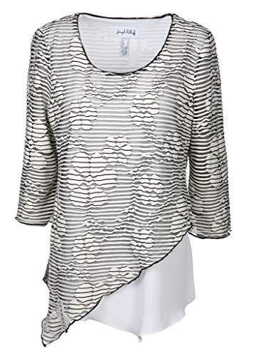 Joseph Ribkoff Damen Bluse Größe 40 EU Schwarz (schwarz/weiß)