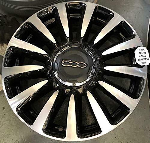 fca Llanta de aleación para Fiat 500L 16 pulgadas negro plata rueda...