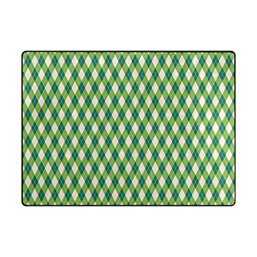 MALPLENA Joli Motif Rhombus Zone Tapis antidérapant Pad Moyen d'entrée Paillasson Tapis de Sol Chaussures Grattoir, Polyester, 1, 63 x 48 inch