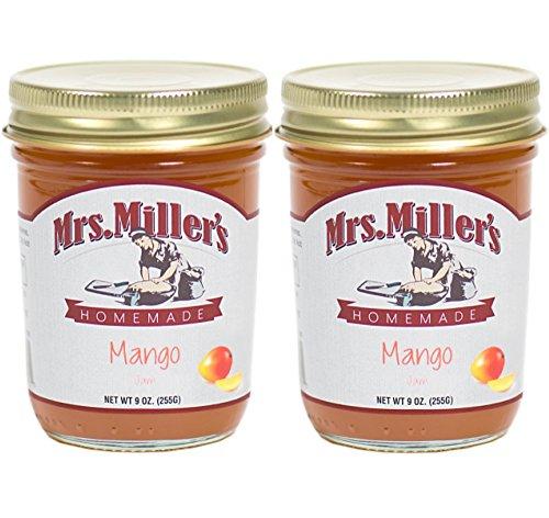 Mrs. Miller's Amish Homemade Mango Jam 9 Ounces - 2 Pack