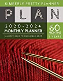 5 year monthly planner 2020-2024: 2020-2024 five year planner : password keeper and Journal, 60 Months Calendar (5 Year Monthly Plan Year 2020, 2021, 2022, 2023, 2024 ) | knitting needle design
