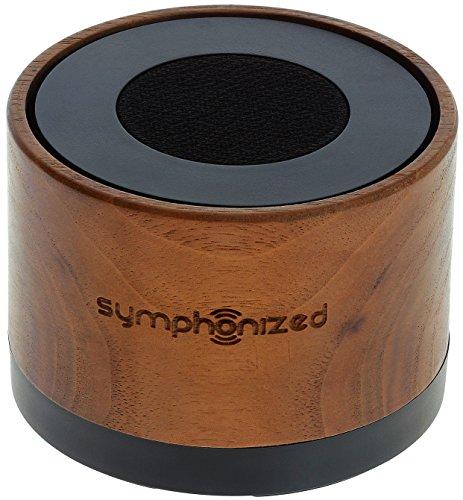 Symphonized NXT Premium transportabler Bluetooth Lautsprecher - aus einem Stück echtem, handgearbeitetem Walnuss. Kompatibel mit Bluetooth-fähigen iOS und Android Geräten und MP3 Playern (Walnuy)