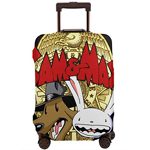 Luggage Cover Sam and Max Travel Suitcase Protector Zipper Suitcase Cover Washable Fashion Printing Luggage Cover Zipper Travel Suitcase Protector