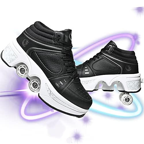Zapatos con Ruedas Zapatos Skate para Mujeres Unisex Automática De Skate Zapatillas Patines En Línea De Nuevo Diseño Patines De Patines De Ruedas Ajustables