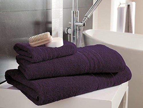Gaveno Cavailia Hampton - Toalla de Mano (100% algodón Natural, Absorbente, 450 g/m², 4 Unidades), Color Morado