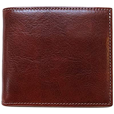 Floto Venezia Wallet in Hand Stained Italian calfskin leather (Vecchio Brown)