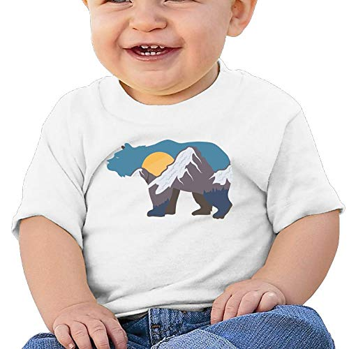 T Shirt Bear Mountains Birthday Day 6-24 Months Baby Boy Kids