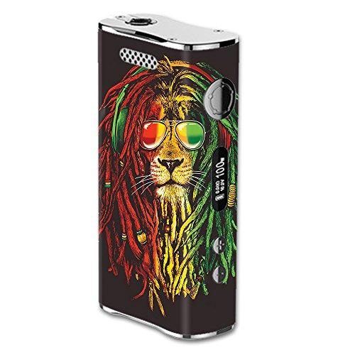 Skin Decal Vinyl Wrap for eLeaf iStick 100W Vape Mod Skins Stickers Cover / Rasta Dread Lion Irie