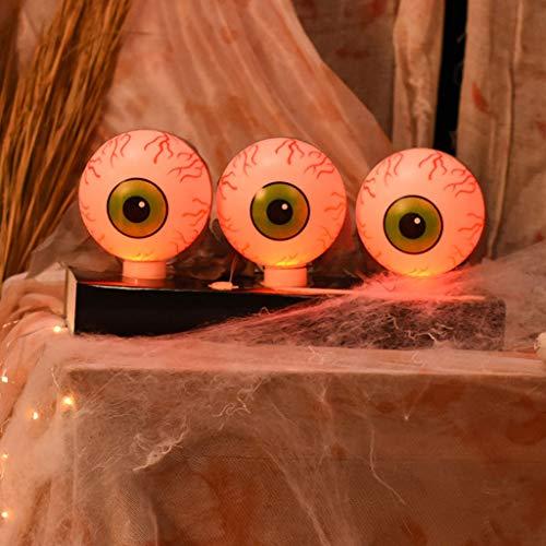 Y-POWER: Bola eléctrica para Halloween con control de voz, brillante globo ocular giratorio a izquierda y derecha, decoración de fiesta creativa de horror complicado