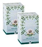 English Tea Shop Puro Té Bianco Biologico Raccolto a Mano - 2 x 20 Bustine di Tè (80 Grammi)