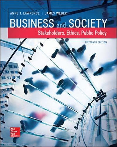 Business and Society: Stakeholders, Ethics, Public Policy (Irwin Accounting)