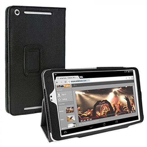 eFabrik Tasche für Asus MeMO Pad 8 ME581C Case Hülle Cover Schutzhülle Schutztasche Etui Aufstellfunktion Auto Sleep/Wake up Leder-Optik schwarz