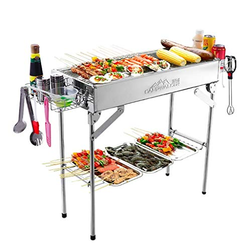 Buy Bargain BBQ supplies / barbecue Easy Barbecues Set Charcoal BBQ Home Grill Stainless Steel Grill...
