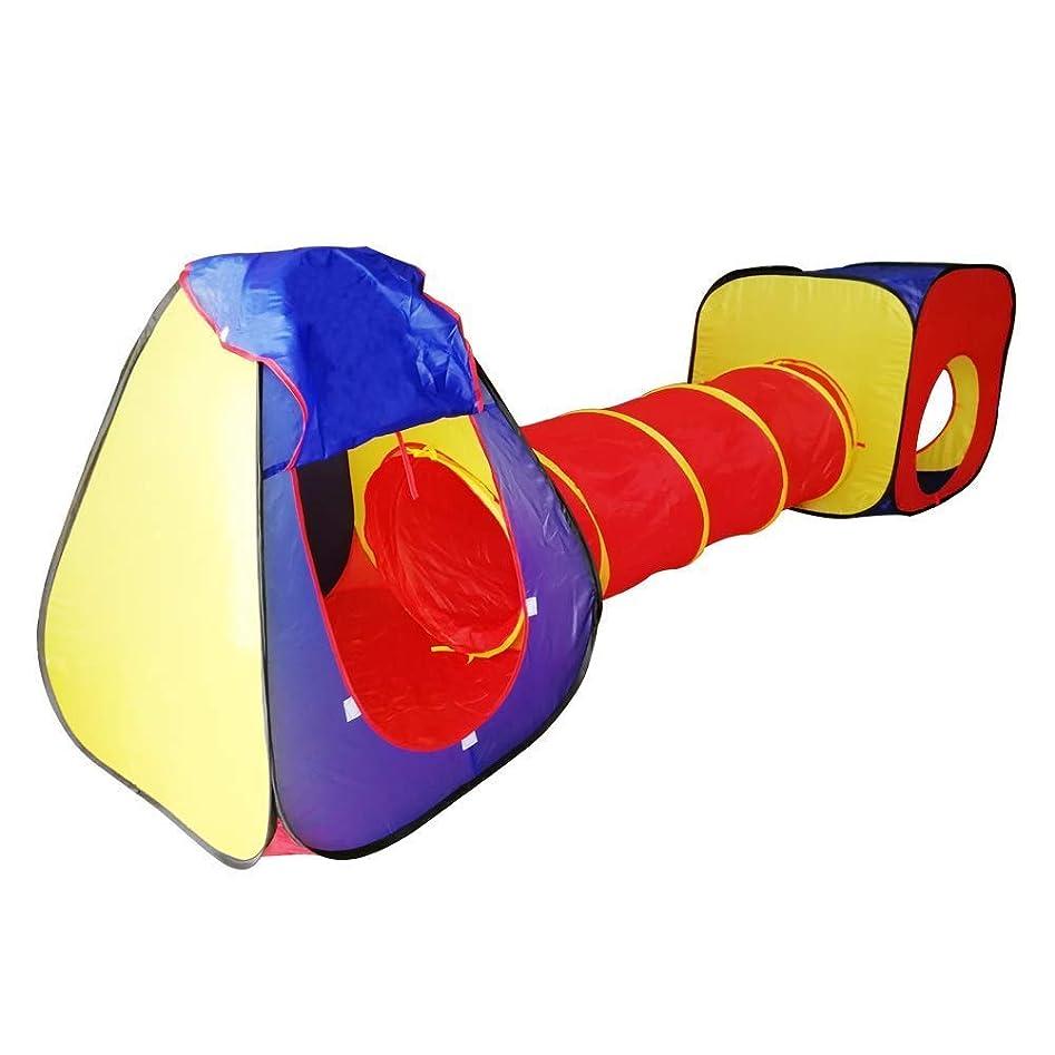 前者においソファーHLMIN 子供用テントキッズテント子供は男の子、女の子のためのクロールトンネル屋根付きの演劇の家が付いている演劇のテントを現れます ( Color : Multi-colored )