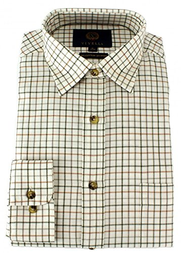 Photo of Viyella – Classic Medium Tattersall Check Shirt (18, Lovat)