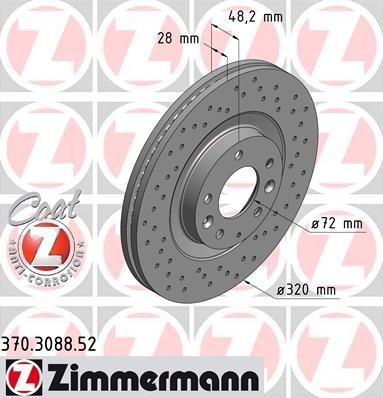 Bremsscheibe SPORT-BREMSSCHEIBE COAT Z - Zimmermann 370.3088.52
