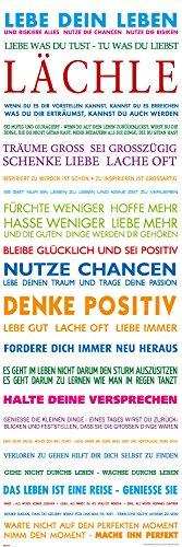 empireposter Motivational - Lebe Dein Leben Bunt Motivations Slim Poster Plakat Druck - Grösse 30,5x91,5 cm