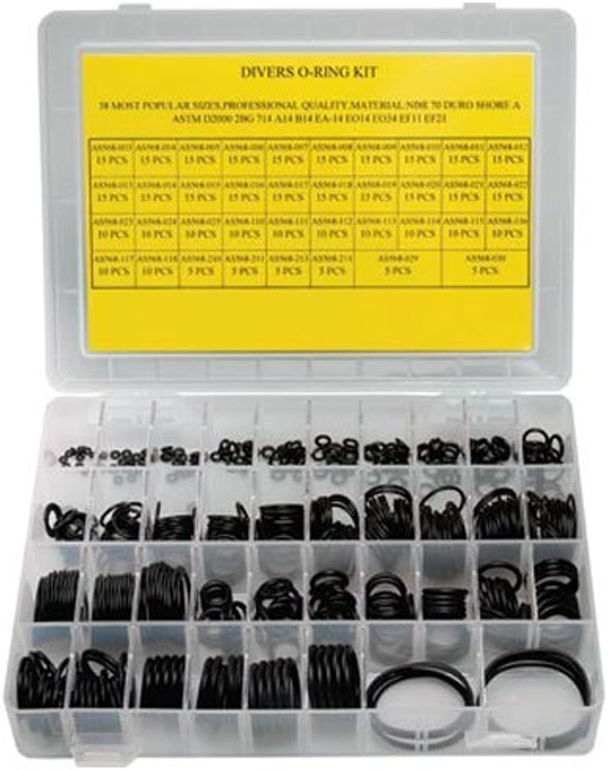 Innovative 200 pieces ORing Kit with 3 Assorted Brass Picks by Innovative Scuba Concepts
